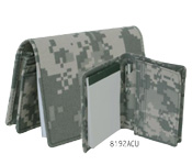 ACU camo Business card holder with pad and pen.