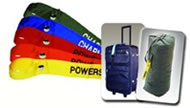 These colorful cloth luggage tags are ideal for everything from army  duffels to sports bags. The embroidered straps feature a heavy duty snap  and can ...