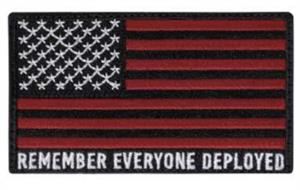 Remember Everyone Deployed Velcro Hook Back Flag Patch