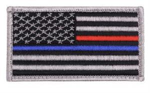 Flag Patch Thin Red Line Rubber