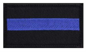 patch with velcro hook thin blue line